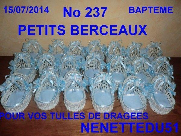 CROCHET PETITS BERCEAUX POUR BAPTEME