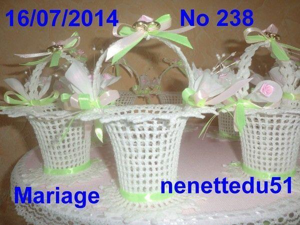 CROCHET 24 PETITS PANIERS POUR MARIAGE