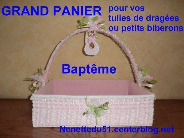A VENDRE GRAND PANIER POUR BAPTEME