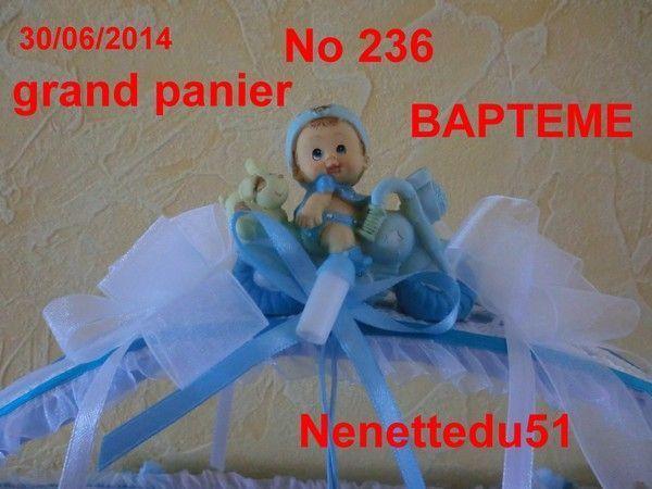 CROCHET GRAND PANIER POUR BAPTEME